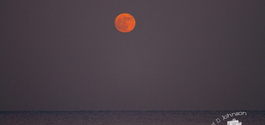 Winter Full Moon over Lake Michigan