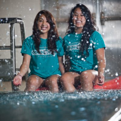 Gena & Erika Tanquilut, Swimming, Lincoln-Way West. | Vincent D. Johnson/for Sun-Times Media